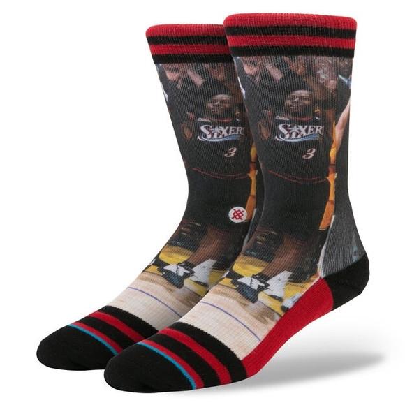 Allen Iverson Fusion Stance Socks RARE